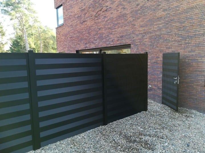 cl ture de jardin en aluminium la cloture alu possibilit s et prix. Black Bedroom Furniture Sets. Home Design Ideas