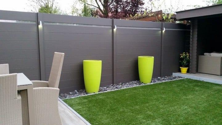 Étagères de clôture en aluminium avec éclairage